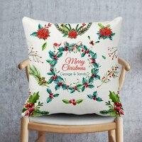 Boże narodzenie Obicia na poduszki, Nazwa Niestandardowa Poszewka na Poduszkę, Białe Boże Narodzenie Poszewki Na Poduszkę, Kwiat Użytkowa Rzuć Poszewki Na Poduszki dla Domu wystrój