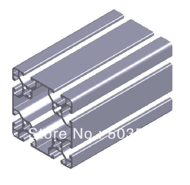 6pcs L1000mm for aluminium profile P6 60 X 60 L