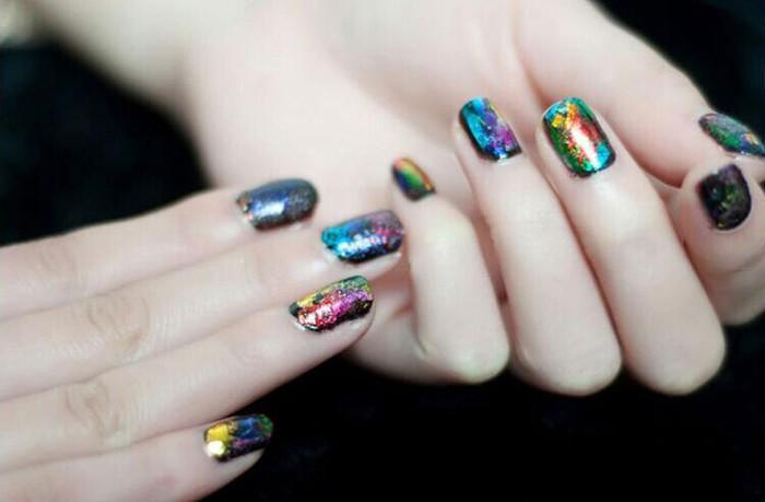 tkgoes 12 шт./лот конструкции искусства ногтя передача фольга наклейки, клей, лак для ногтей Берти, советы украшения аксессуары