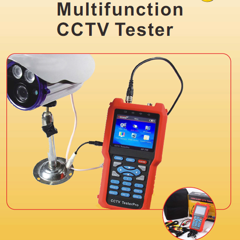 CCTV monitor testers Analog CVBS signal cable tester IP camera tracker with multi-system color bar video generator NOYAFA NF-708