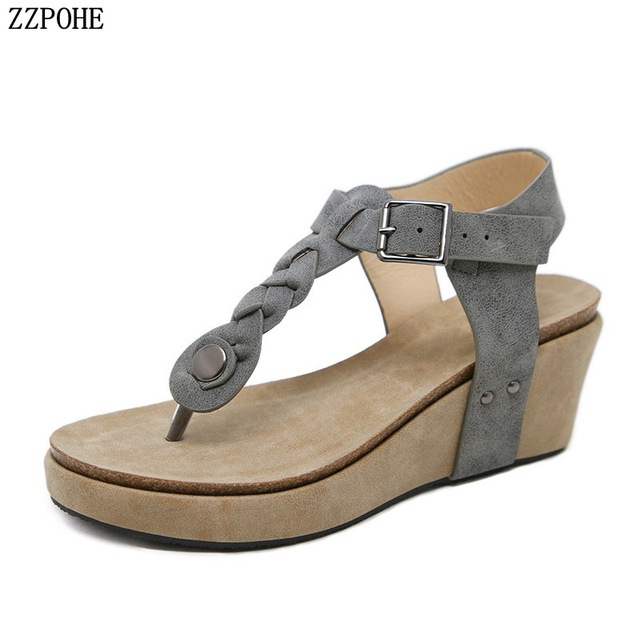 ab8f36043 ZZPOHE Summer New Fashion Women Sandals Women Open Toe Fish Head Wedge  Sandals Ladies Platform Sandals 2018 Women Shoes