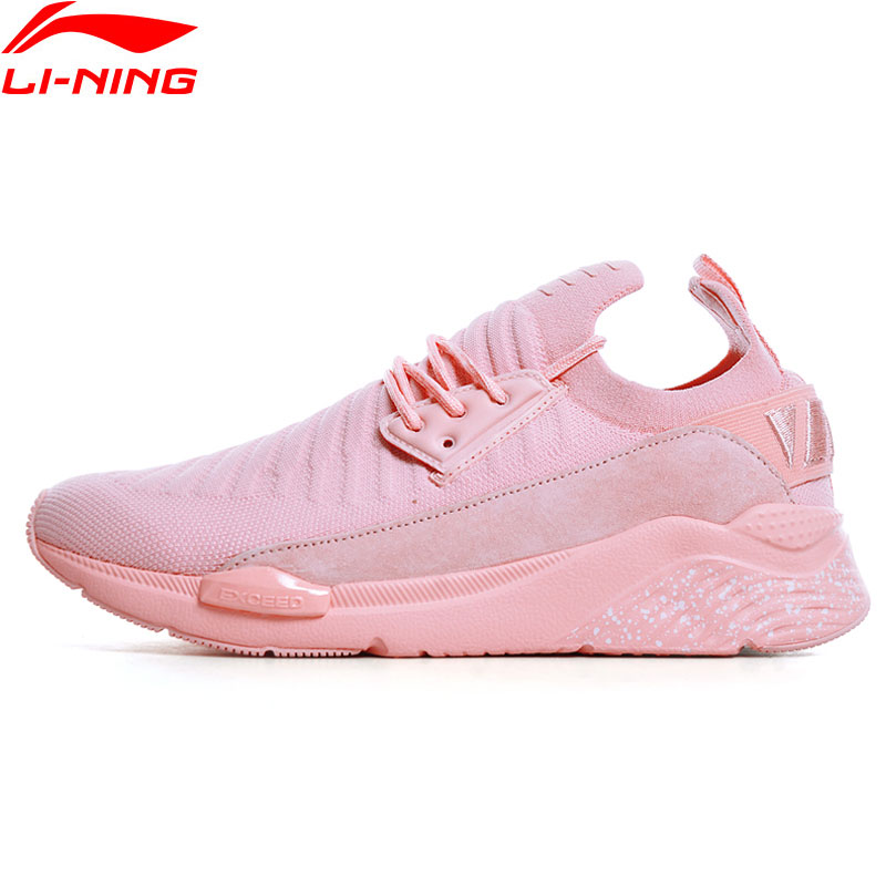 (Break Code)Li-Ning Women Sports Life EXCEED Lifestyle Shoes Cushion LiNing Li Ning Jogging Sneakers Sport Shoes GLKN038 YXB166
