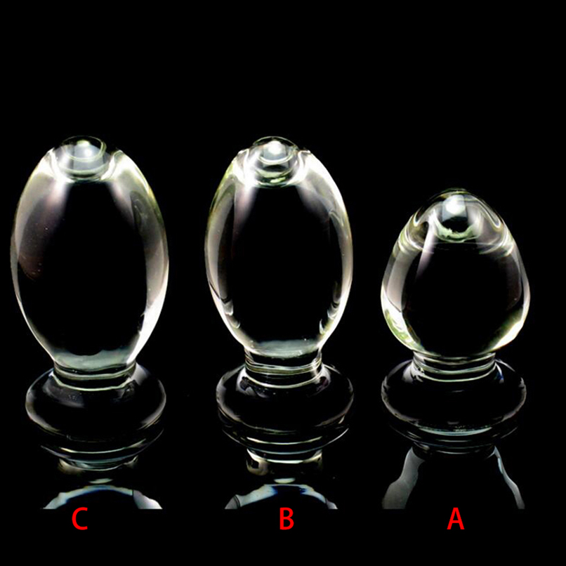 Large Pyrex Glass Crystal Dildo Big Anal Butt Plug Sex Toys Adult Products for Women Men Female Male Masturbation Huge Bum Plug 10pcs pyrex glass dildo crystal anal bead butt plug fake penis dick prostate massage masturbation sex toys for women gay female