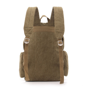 Image 3 - Large Capacity Men Vintage Travel Climb Laptop Backpack Wash Canvas Backpack Male Retro Casual Rucksack Teenagers School Bags