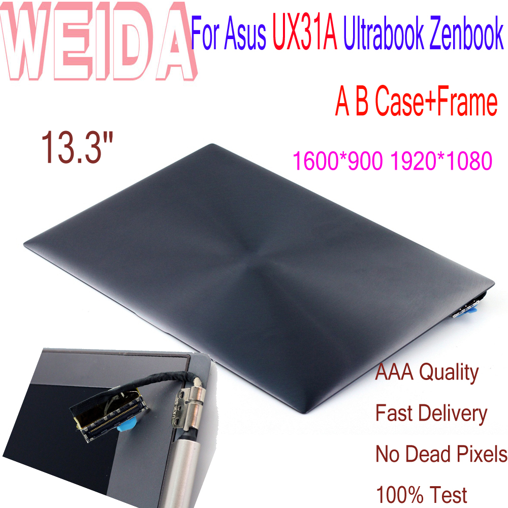 """LCD Replacement 13.3"""" For Asus UX31A UX31T Ultrabook Zenbook  Laptop LCD Display Touch Screen 1920*1080 A B Case+Frame Assembly