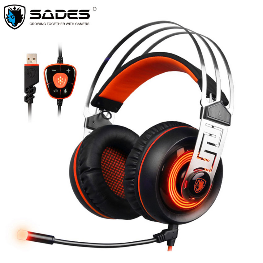 SADES A7 Gaming Headset Gamer Best Casque USB 7 1 Stereo Surround Sound Earphone Headphones with