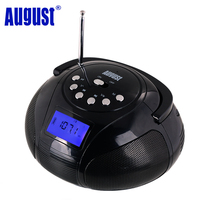 August SE20 Portable Alarm Clock Radio with Bluetooth Speaker Mini MP3 Stereo System with SD Card / USB / AUX 2x3W HiFi Speakers