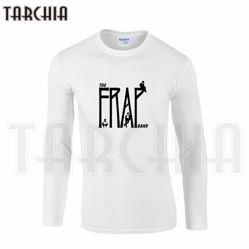 TARCHIA Fashion Men's Long Sleeve Tee Famous The Fray Band Print Homme T-Shirt Cotton tee Plus Size Boy Wear