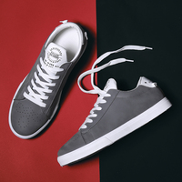 Hemmyi Lace Up Flock Male Sneakers 2018 New Breathable Hard-wearing Men's Casual   Shoes   Black Gray Khaki Flat male   shoes