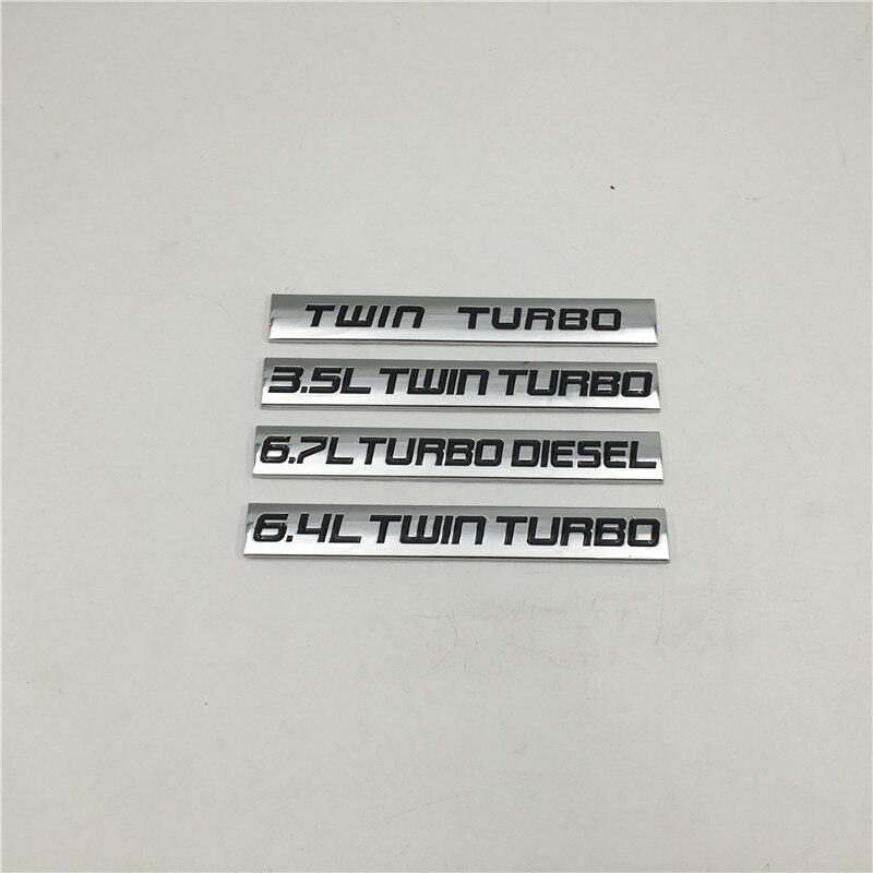 3.5L 6.4L двойной турбо 6.7L турбо дизельный алюминиевый брызговик для багажника, наклейка, эмблема, логотип для Ford для BMW