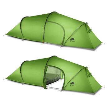 3F UL GEAR 2 person 2 room 4 season Tunnel tent 15D silicon outdoor camping hiking climbing ultralight large space 210T tents 2