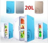 220 В электрический автомобиль Mini холодильник 20L 12 В холодильник и теплее Портативный путешествия автомобильный холодильник машины ультра