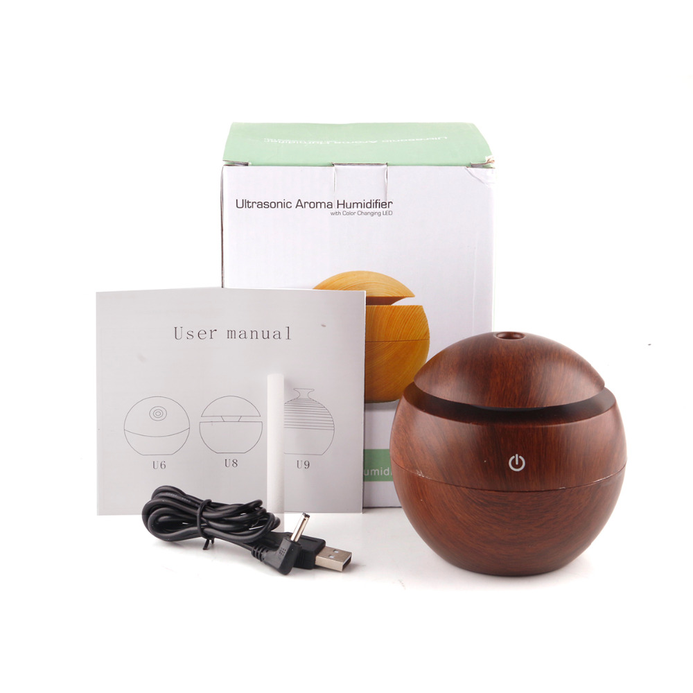 Essential Oil  USB Aroma Diffuser  Ultrasonic Cool Mist Humidifier Air Purifier 7 Color Change LED Night Light For Office Home