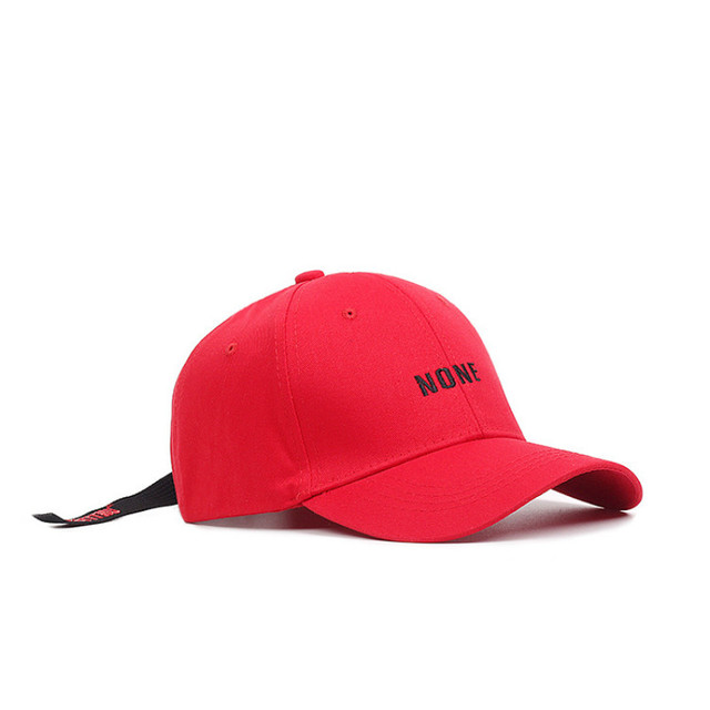 818b3ca1e31 Korea Stars Group Hat NONE Letter Embroidery Baseball Cap for Men  WomenTeenagers Girls and Boys White Black Red Blue Snapback