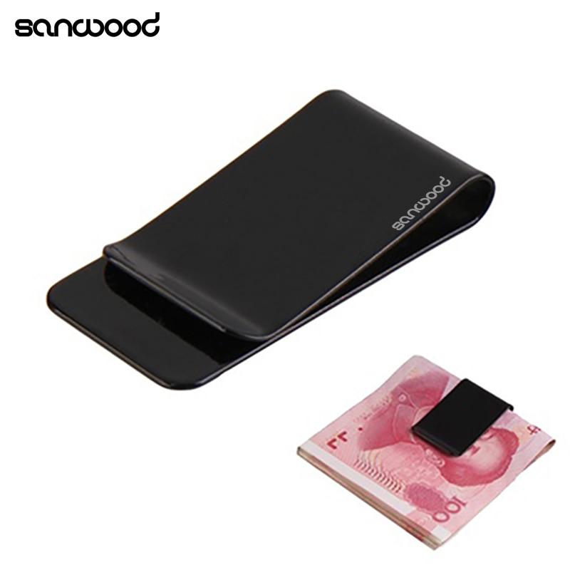1 St Draagbare Roestvrij Staal Mini Eenvoudige Pocket Purse Eenvoudige Geld Clip Houder
