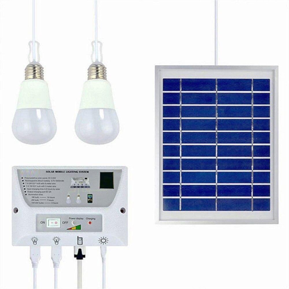 4.5W Solar Panel 5000mah Battery Mobile Solar Power LED