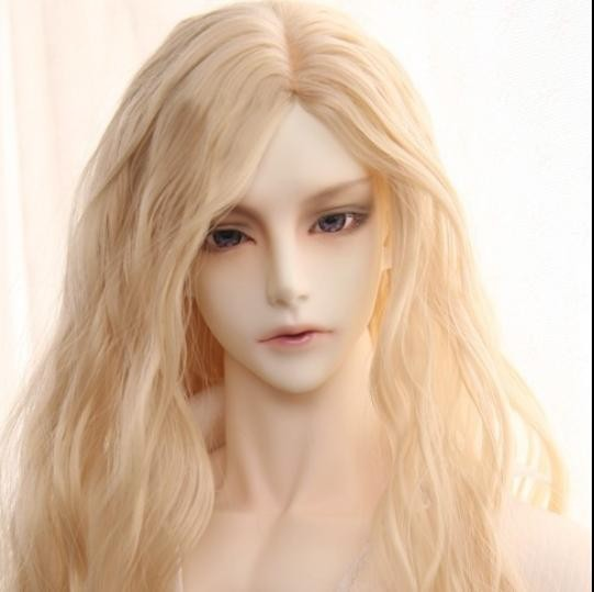 1/3 1/4 1/6 bjd wig big male doll Gluino similar hair wig blonde brown long curly 70cm Vampire Alchemist fashion accessories wig refires bjd hair 25cm length black brown flaxen golden natrual color long straight wig hair for 1 3 1 4 bjd diy