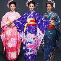 New Party Cosplay Cotume Japanese Kimono Women Yukata Traditional Japanese Kimonos Female Bathrobe Japanese Ancient Clothes 16