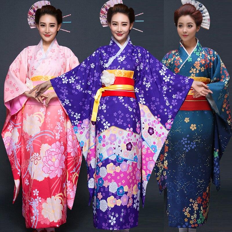 Nouvelle fête Cosplay Cotume Kimono japonais femmes Yukata traditionnel japonais Kimonos femme peignoir japonais vêtements anciens 16