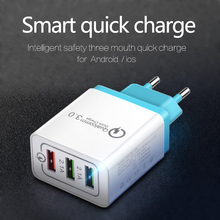 Universal 18 W USB Quick Charge 3.0 5V 3A for iphone 7 8 EU Plug Mobile Phone Fast Charger Charging for Samsug s8 s9 Huawei