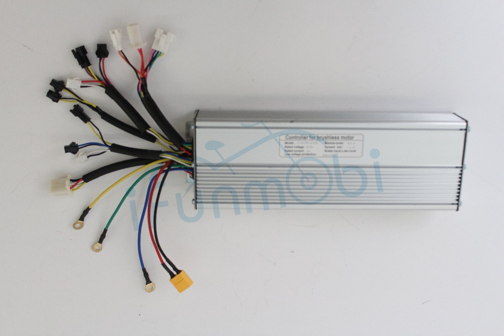 36V 48V 1500W 45A Silver eBike controller for Brushless Motor Fat Tire With Regenerative And Reverse