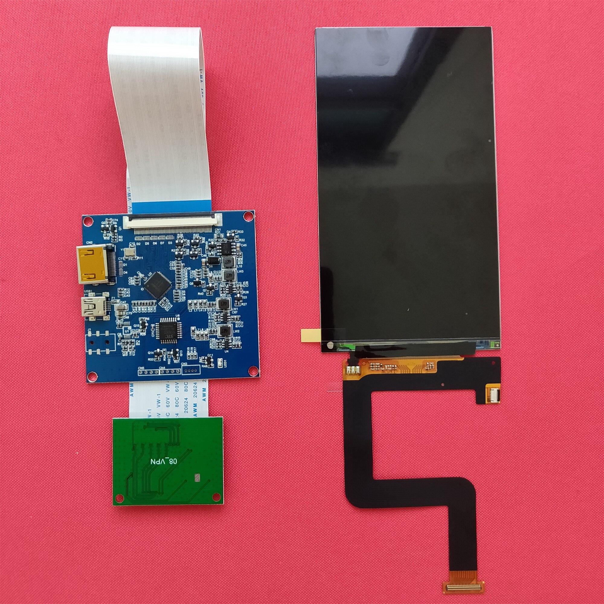 5.5 pouces 1440 p hdmi écran d'affichage 1440*2560 avec hdmi à mipi pour les lunettes de réalité virtuelle dk2 bricolage pour imprimante 3d raspberry pi 3