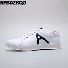2018 Sneakers Casual Trainers Rubber Comfort Fashion Flats Designer New Men  White Skate Shoes Height Increasing 7e2f0bfd950d