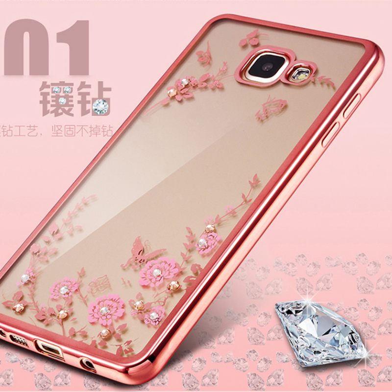 Rhinestone Clear TPU Cover For Samsung Galaxy S6 S7 Edge S8 Plus A3 A5 A7 2017 J3 J5 J7 2016 Grand Prime Diamond Soft Case Coque