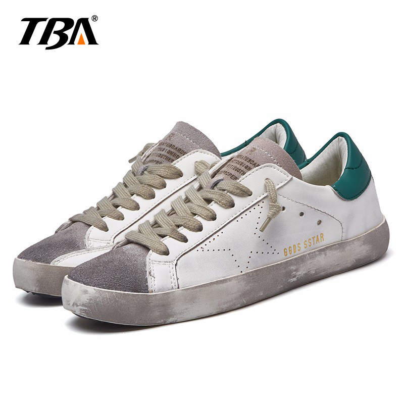 TBA Brand Designer 2016 Italy Golden Genuine leather Casual Women Shoes Goose All Sport Star Breathe Shoes Footwear Zapatillas 2016 new italy deluxe brand golden goose uomo donna casual ggdb fashion handmade original box shoes high quality eur 34 46