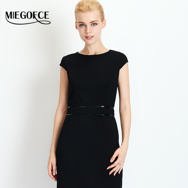 2016 MIEGOFCE New Autumn Collection Women Autumn Fitted Long women Dress Suit Women Dresses in European Style with Round Collar