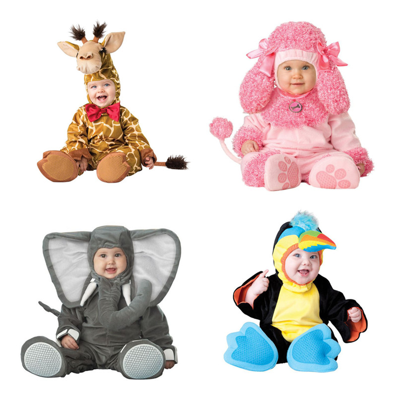 Cartoon Baby Infant Elephant Lobster Romper Kids Onesie Suit Animal Cosplay Shapes Costume Child ...