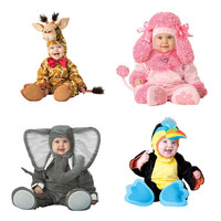 Cartoon Baby Infant Elephant Lobster Romper Kids Onesie Suit Animal Cosplay Shapes Costume Child autumn winter Clothing