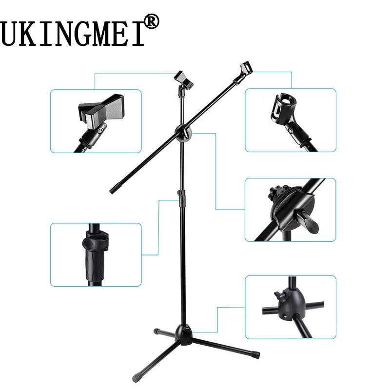 Zielsetzung Nb-001 Professionelle Dual Mikrofonständer Stativ Hohe Arm Holder Clip Clamp Musik Mikrofon Für Rekord Aufnahme Mikrofon Mild And Mellow Mikrofonstativ
