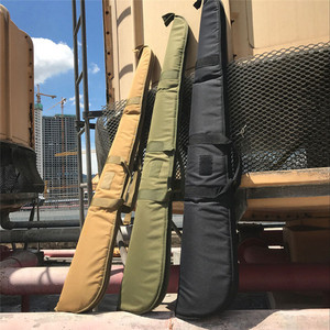Image 5 - Tactical 130cm Camo Gun Case Gun Bag Airsoft Rifle Shotgun Holster with Soft Padding Outdoor Military Hunting Gun Carrying Bag