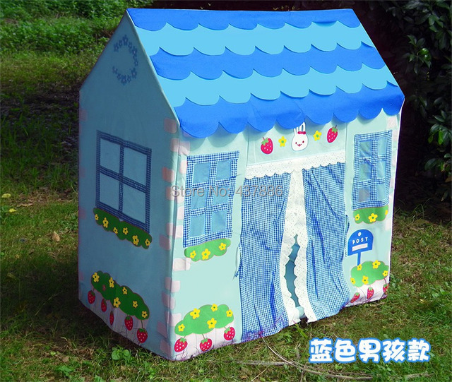Children large baby play tenda infantil dollhouse blue and pink princess cloth small house tents for & Children large baby play tenda infantil dollhouse blue and pink ...