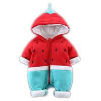 2018 New Baby Watermelon Romper Toddler Newborn Baby Boys Girls Strap Cotton Rompers Jumpsuit Outfits Casual Infant Baby M43