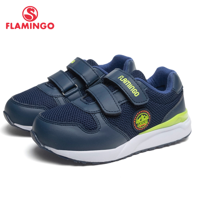 Кроссовки Фламинго для мальчиков 91K-JL-1220, вид застежки – липучка, дышащий материал, кожаная стелька, для спорта и отдыха, размер 26-31. Модная стильная модель.