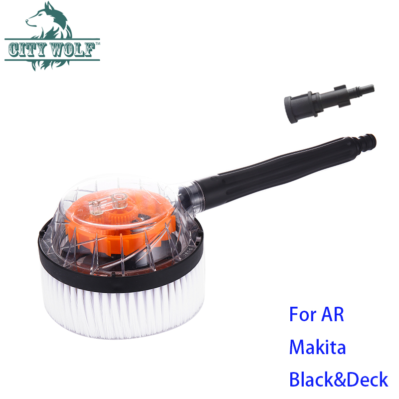 Car Washer Rotatable Circular Brush wheel tires cleaner AR Black&Deck Makita Bosche high pressure washer accessories city wolf