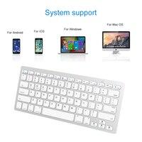 עבור מחשב נייד מיני מקלדת אלחוטית Ultra-Slim מולטימדיה Bluetooth מקלדת עבור MacOS Windows אנדרואיד IOS מחשב נייד Tablet Macbook iPhone iPad (3)