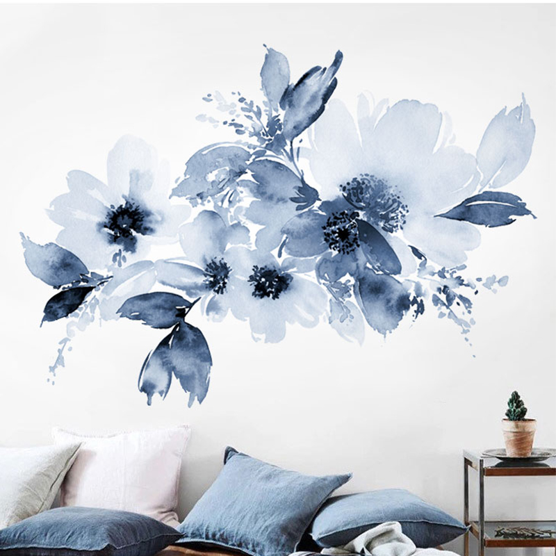 abstract wall sticker watercolor floral wall art poster painting