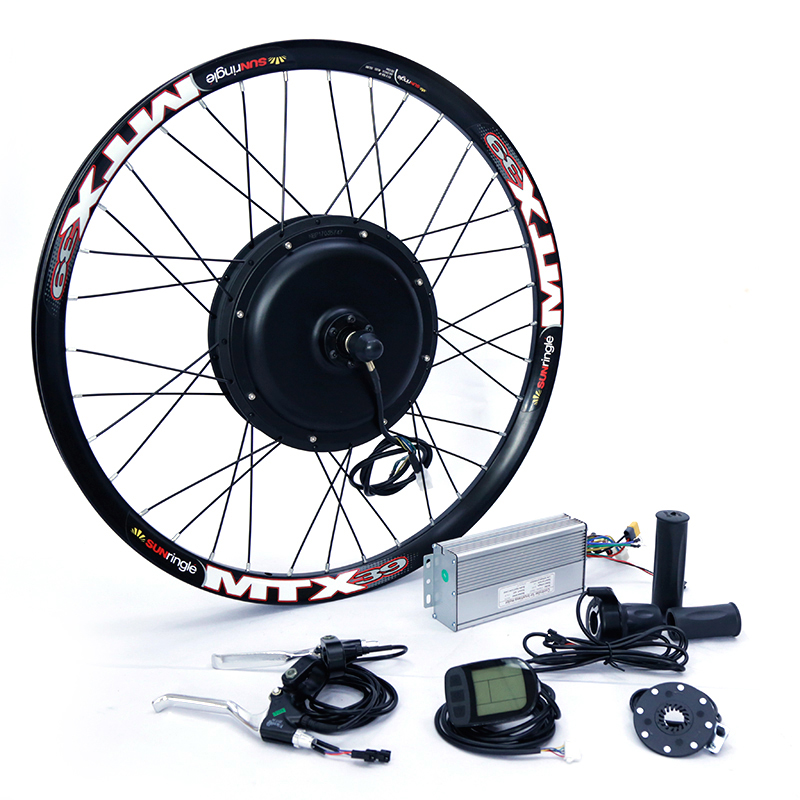 Frontal ou traseira do motor 65 kmh 48 v 1500 w kit de conversão bicicleta Elétrica para 20