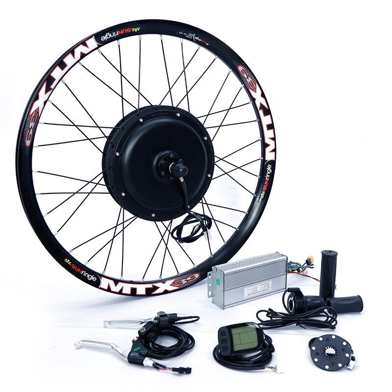 Kit Bicicleta elétrica 1500w Motor Da Roda 48V E Bicicleta Kit 1500W Kit de Conversão Bicicleta Elétrica Do Motor da Roda para 20-29in Motor Do Cubo Traseiro