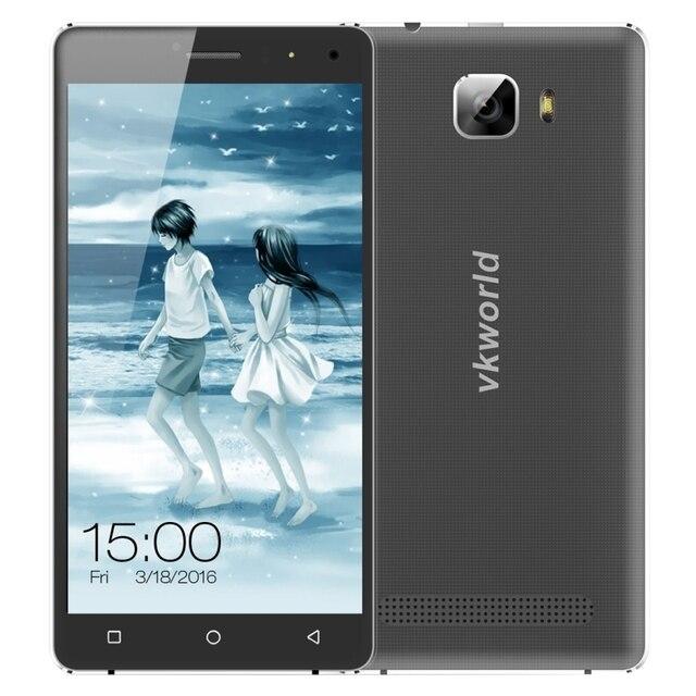 Оригинал VKworld T3 4 Г 16 ГБ ROM 2 ГБ RAM Музыкальный Смартфон 5.0 дюймовый 2.5D Дуги Экран Android 5.1 MTK6735 Quad Core 2500 мАч Двойной SIM