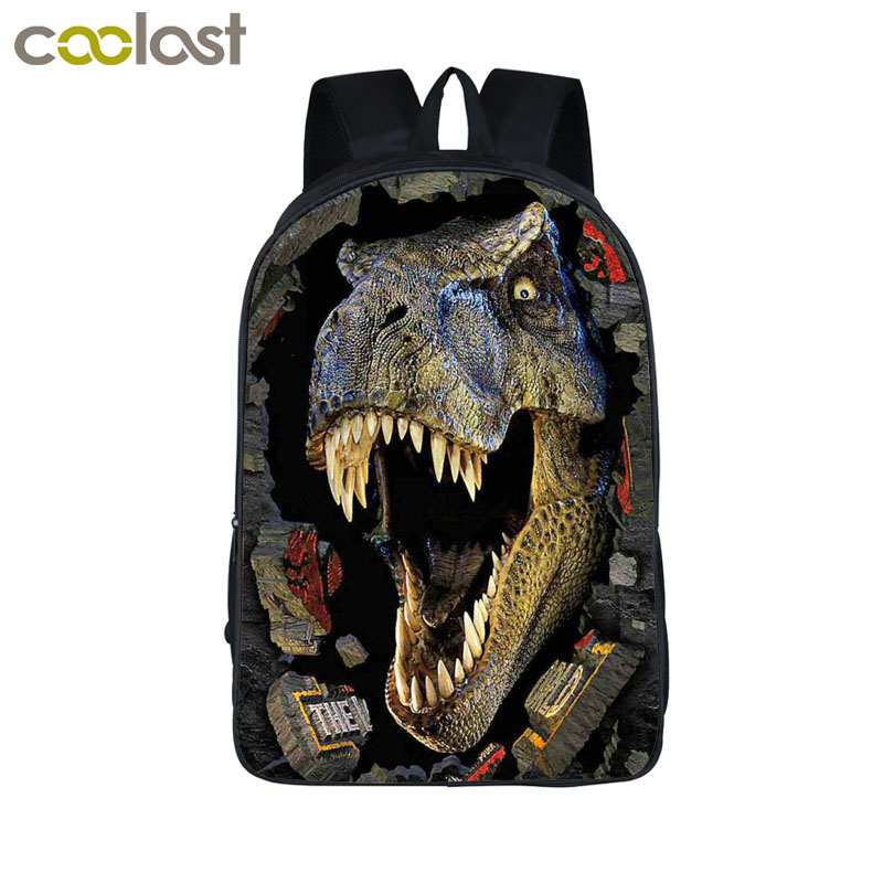 Ancient Dinosaur Backpack For Teenagers Magic Dragon Children School Bags Animal Printing Backpack Boys Girls Book Bag mochila hynes eagle 3 pcs set 3d letter bookbag boys backpacks school bags children shoulder bag mochila girls exo printing backpack