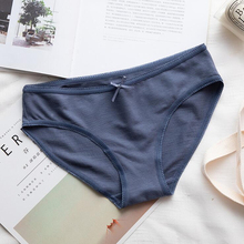Free Shipping Low-waisted cotton lace briefs Traceless, sweat-absorbing and breathable women's panties S1910 LC