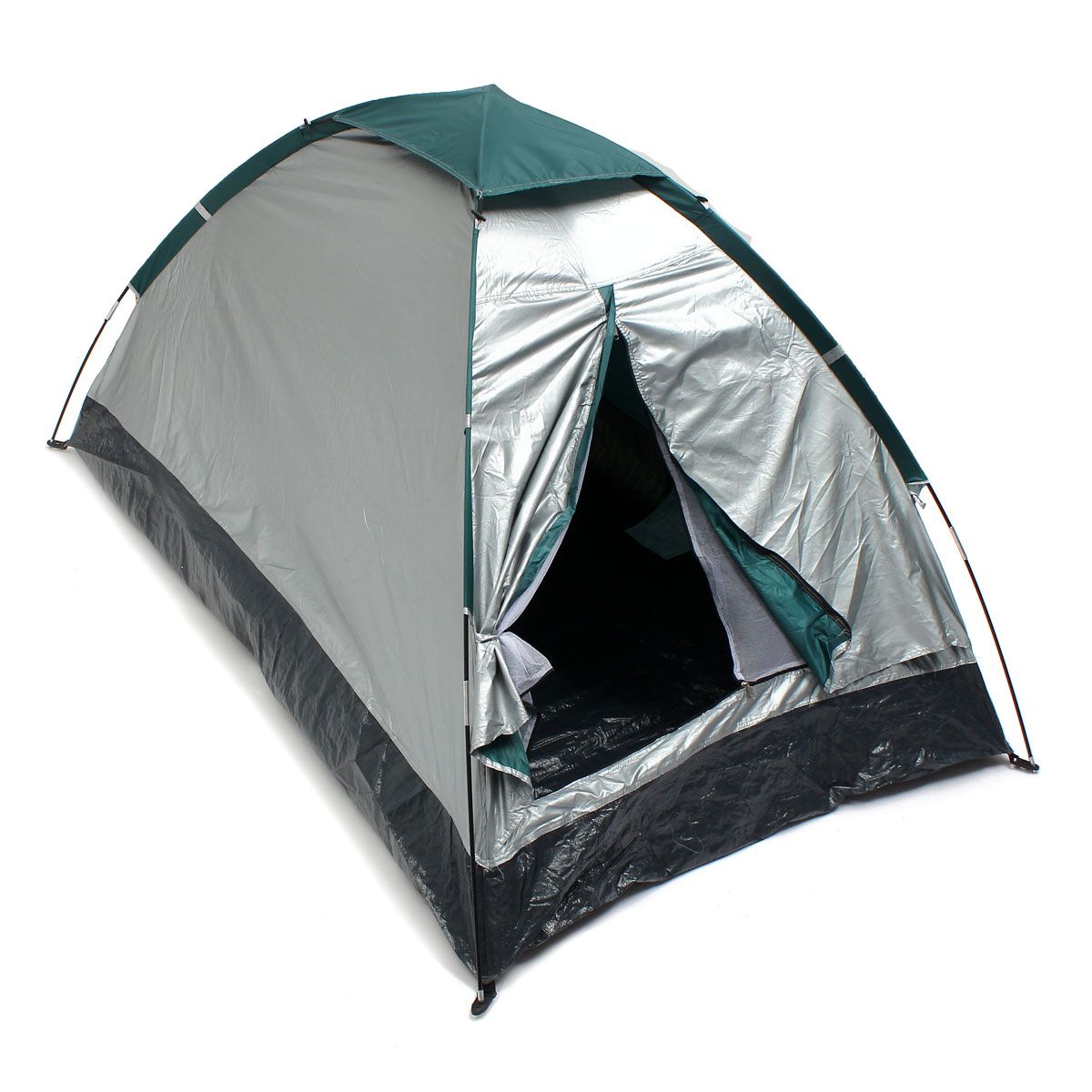 ФОТО Hot Sale PE Cloth Waterproof PU 3000MM ultralight Single Layer 2 person 4 season outdoor travel Camping hiking Tent