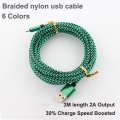 2A Metal Braided nylon micro usb cable Charger data sync usb charging cable cord for PS3 PS4 XBOX samsung galaxy xiaomi