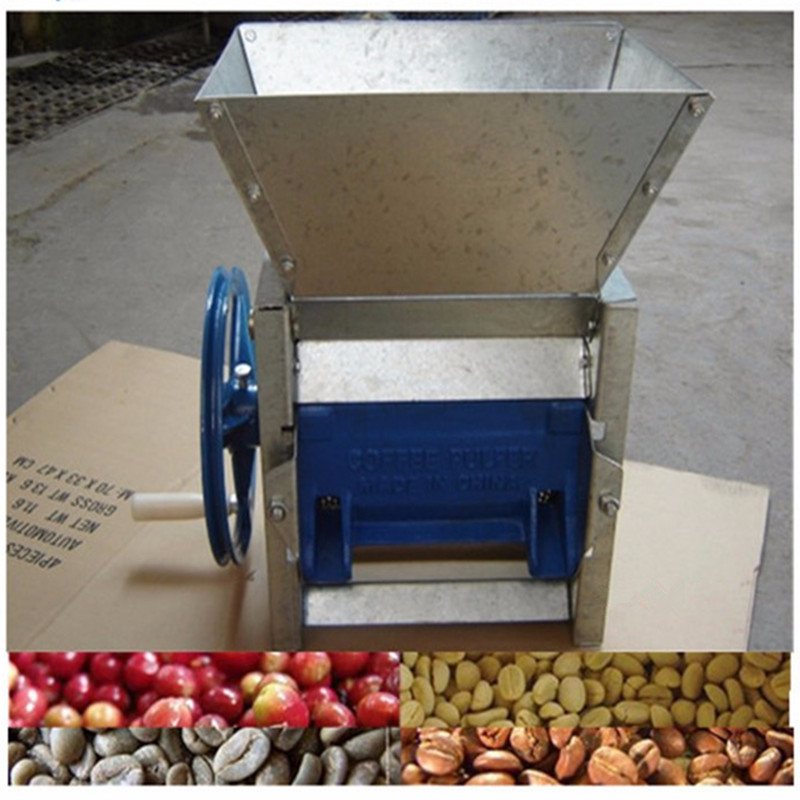 Small size home use manual coffee and cocoa beans pulper machine peeler ZF manual fresh coffee beans peeling pulping pulper machine cocoa bean extractor coffee sheller