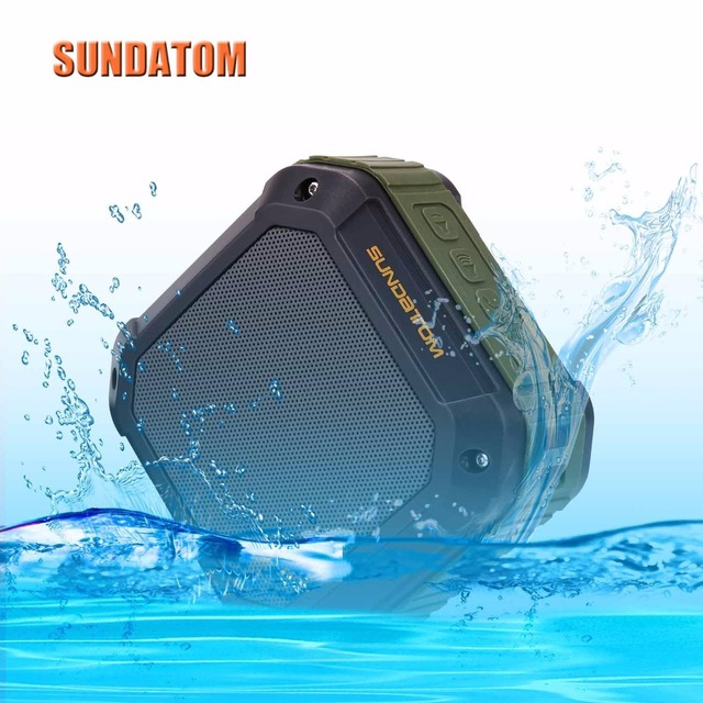 Portable Wireless Bluetooth Speaker Waterproof Outdoor Sport Mp3 Player, SUNDATOM Music Speaker Hi-fi Player with Long Playtime