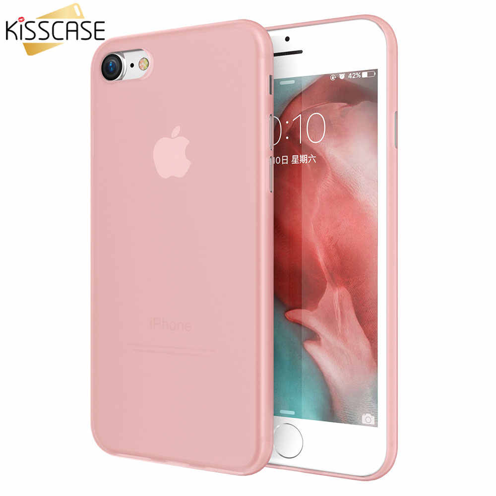 Funda de teléfono ultrafina KISSCASE para Apple iPhone X 7 8 6s Plus mate PC fundas para iPhone X Fundas para iPhone XR XS Max 5S